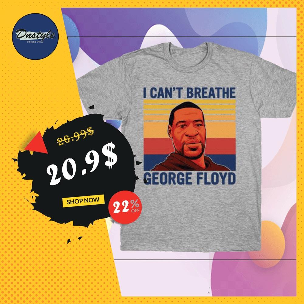 I can't breath George Floyd vintage shirt