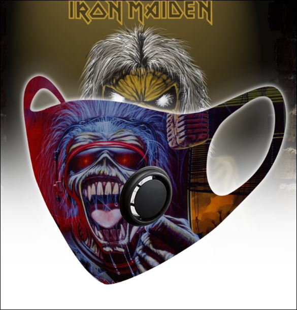 Iron Maiden filter activated carbon face mask