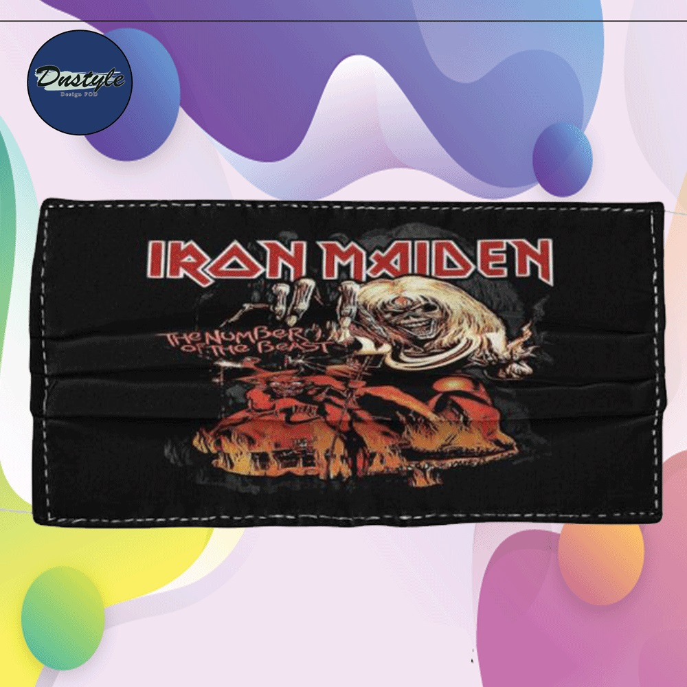 Iron Maiden the number of the beast cloth face mask