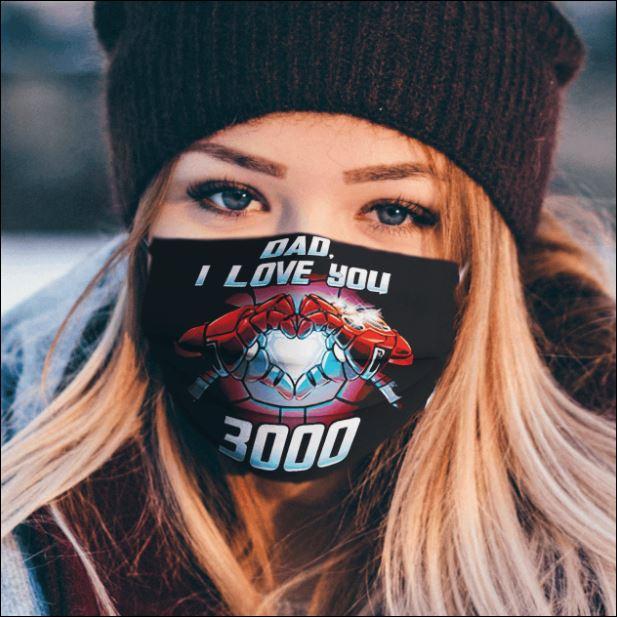 Iron Man Dad i love you 3000 face mask