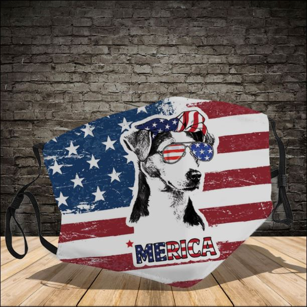 Jack Russell America face mask