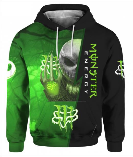 Jack Skellington Monster Energy Fox Racing 3D hoodie