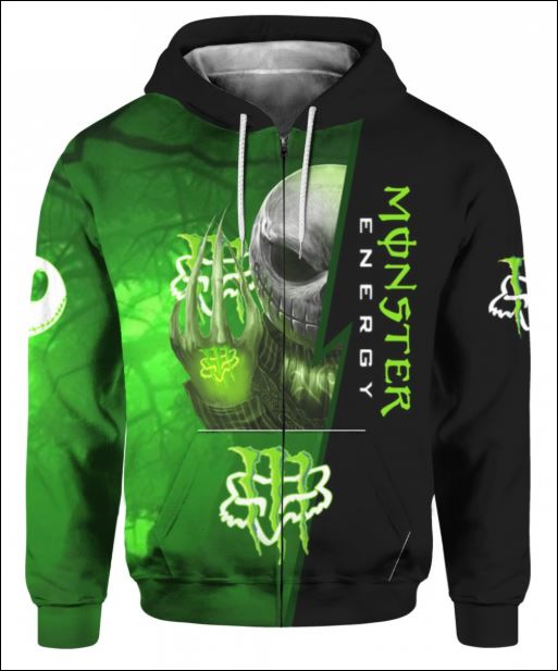 Jack Skellington Monster Energy Fox Racing 3D zip hoodie