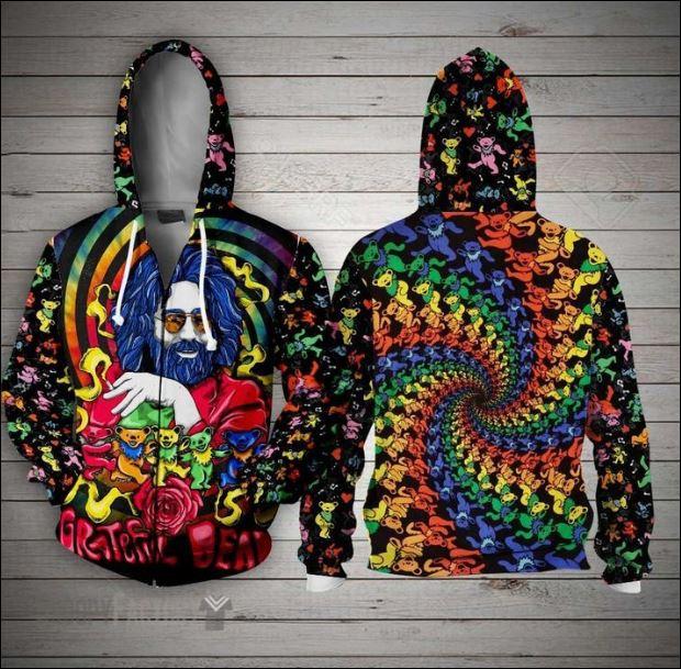 Jerry Garcia Grateful Dead 3D zip hoodie