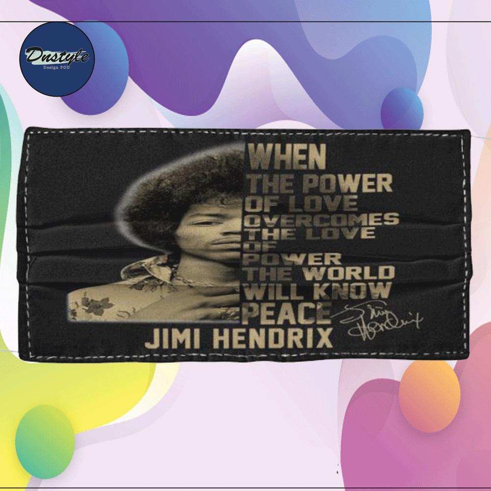Jimi Hendrix cloth face mask