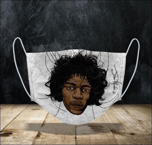 Jimi Hendrix face mask