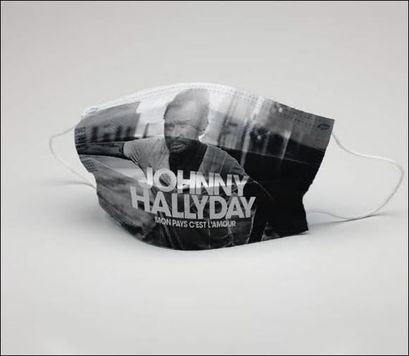 Johnny HallyDay face mask