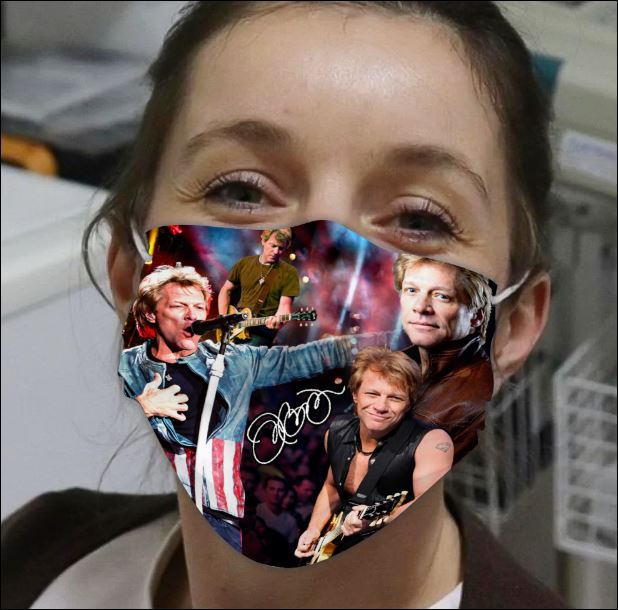 Jon Bon Jovi face mask