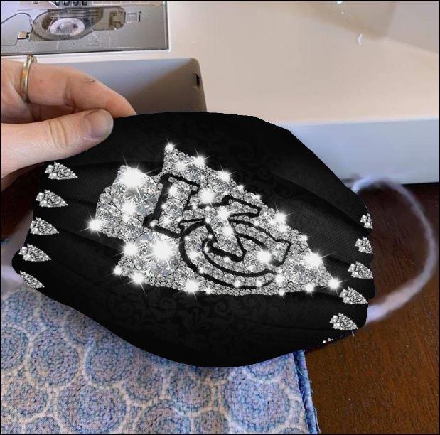 Kansas City Chiefs glitter diamond face mask