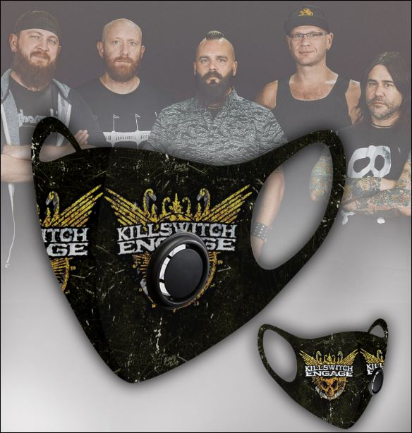 Killswitch Engage filter activated carbon face mask 1
