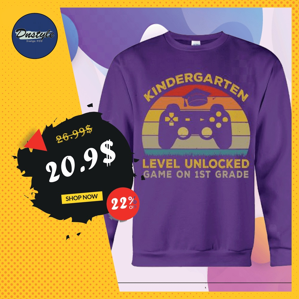 Kindergarten level unlocked game on 1st grade sweater