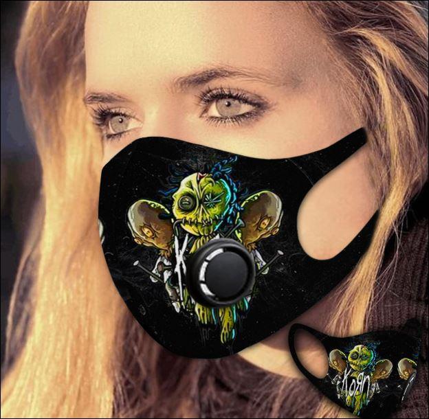Korn filter activated carbon face mask