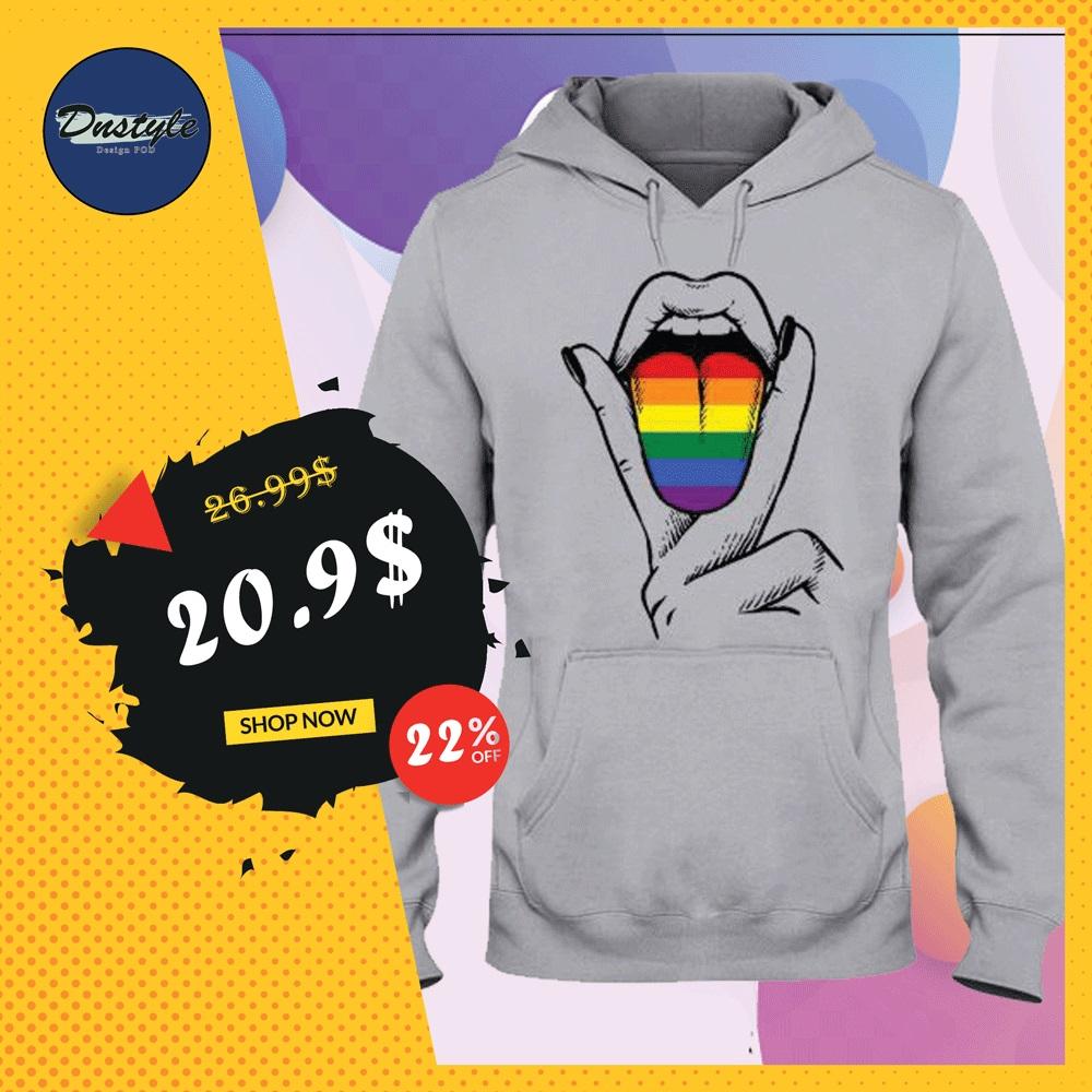 LGBT tongue hoodie