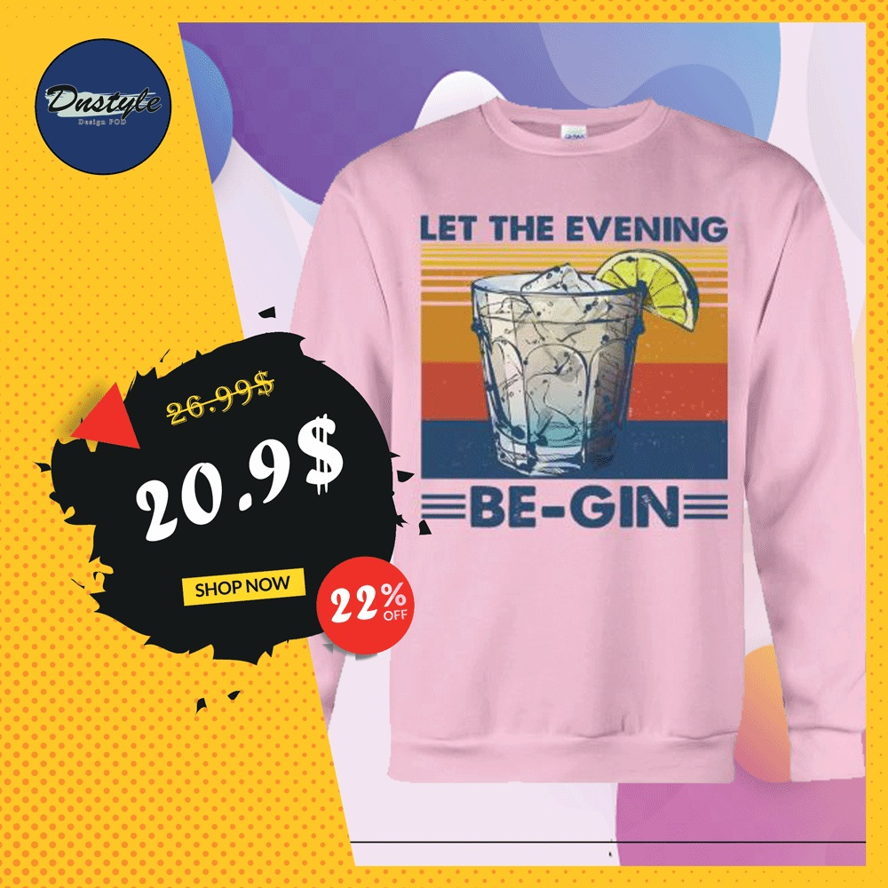 Let the evening be gin vintage sweater