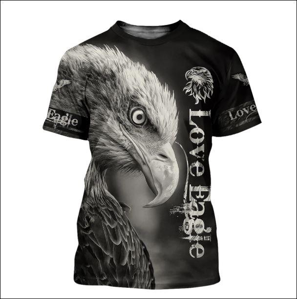 Love eagle 3D shirt