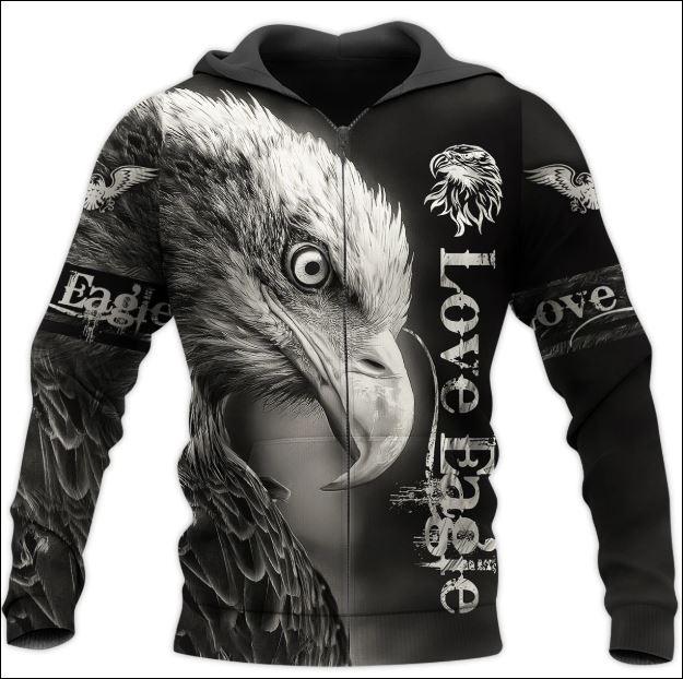 Love eagle 3D zip hoodie