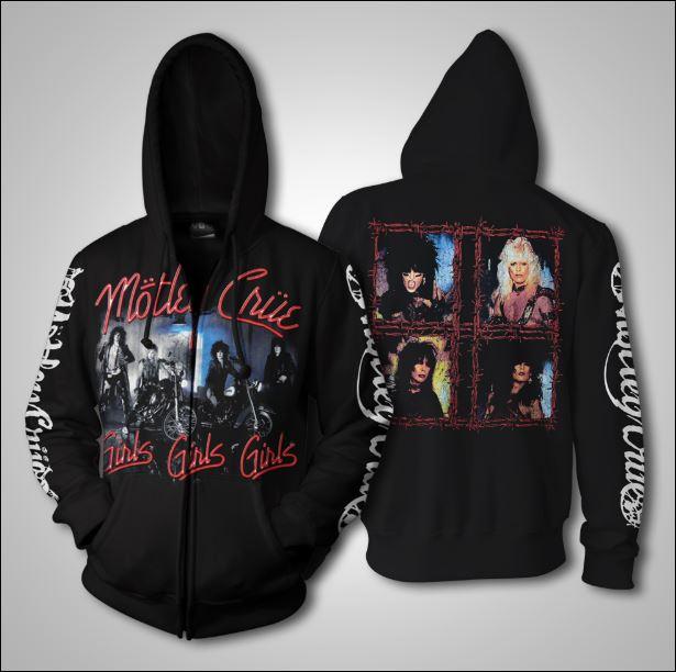 Mötley Crüe 3D zip hoodie