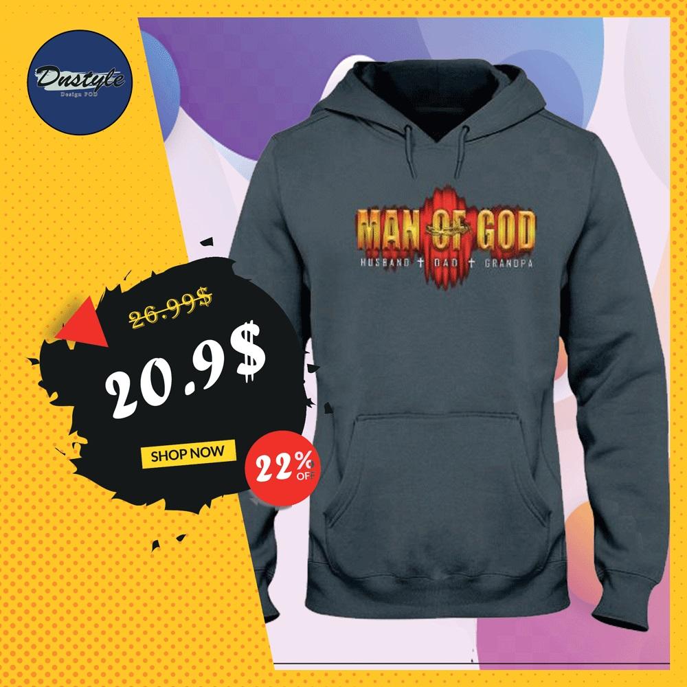 Man of God husband dad grandpa hoodie