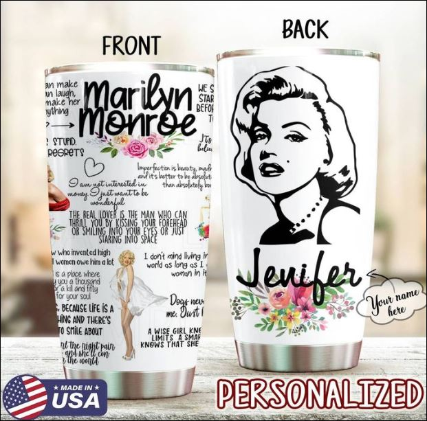 Marilyn Monroe tumbler