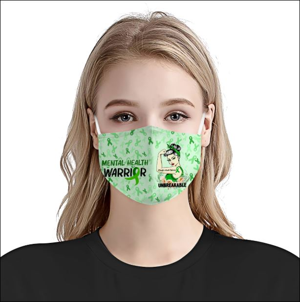 Mental Health Awareness face mask 1