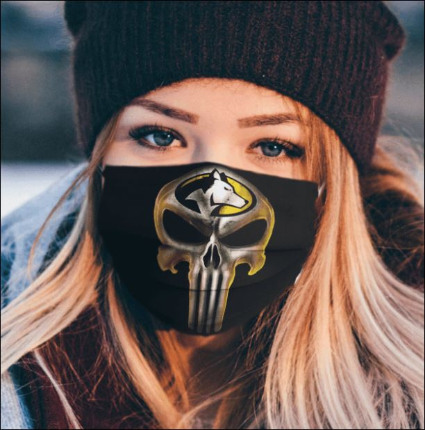 Michigan Tech Huskies The Punisher face mask