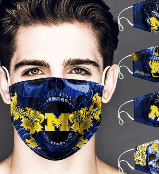 Michigan Wolverines skull face mask