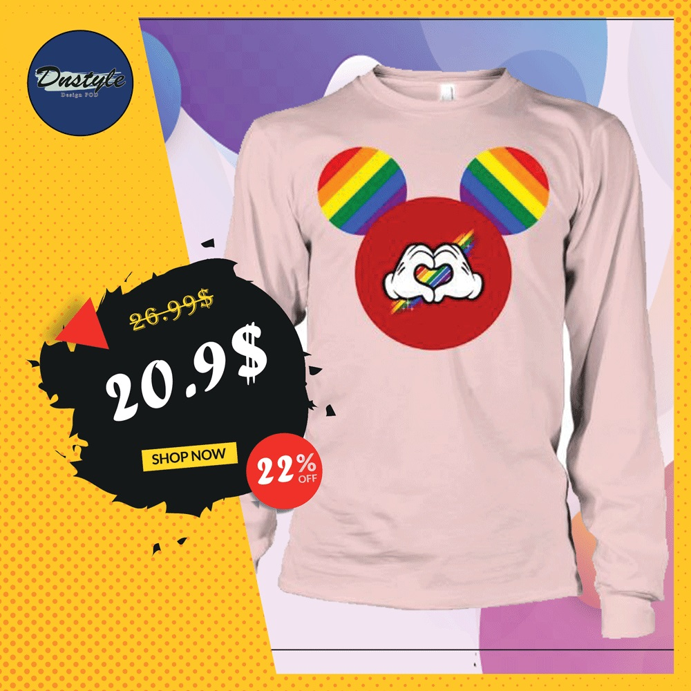 Mickey mouse LGBT long sleeved