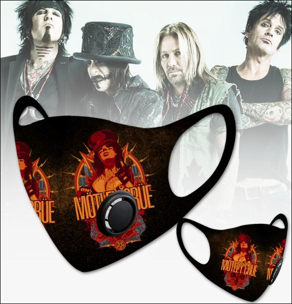 Motley Crue filter activated carbon face mask 1
