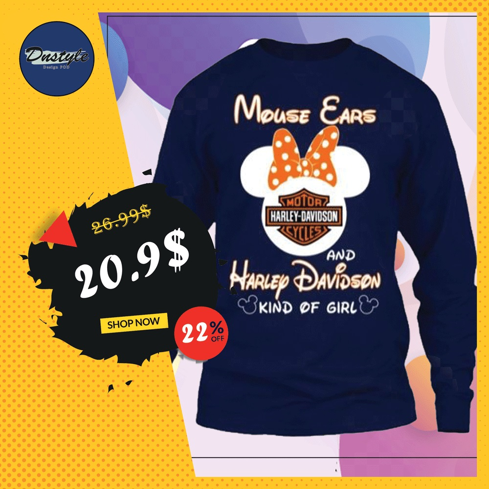 Mouse ears and Harley Davidson kind of girl long sleeved