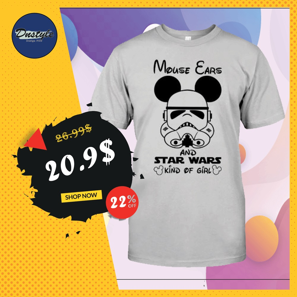 Mouse ears and Star Wars kind of girl shirt