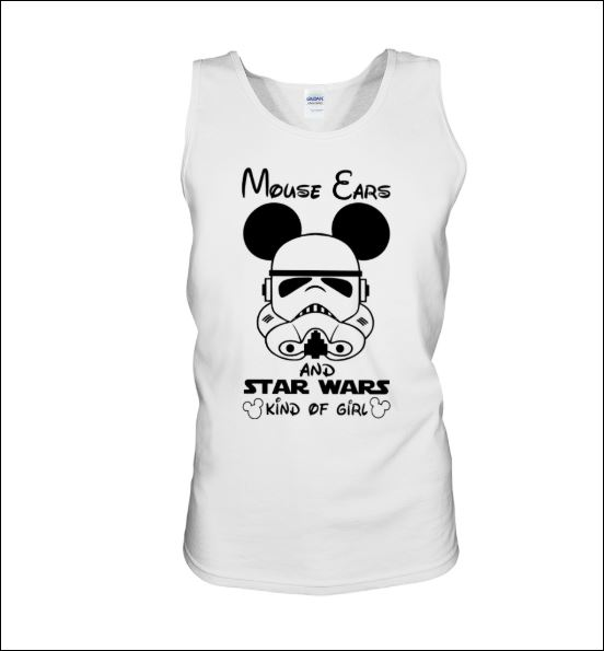 Mouse ears and Star Wars kind of girl tank top