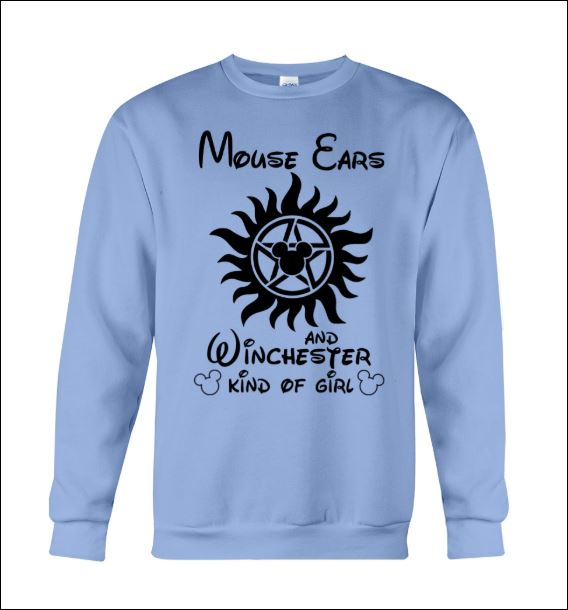 Mouse ears and winchester kind of girl sweater