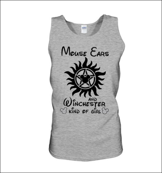 Mouse ears and winchester kind of girl tank top