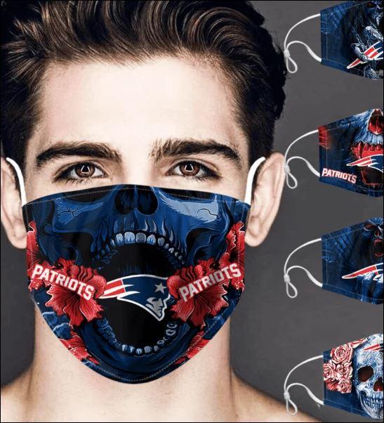 New England Patriots skull face mask