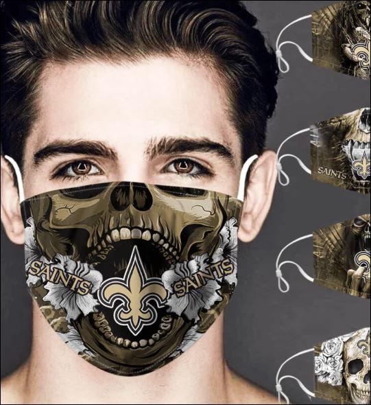 New Orleans Saints skull face mask