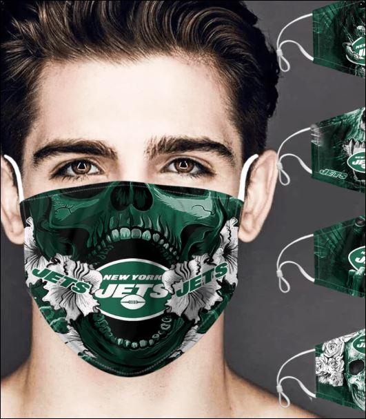New York Jets skull face mask