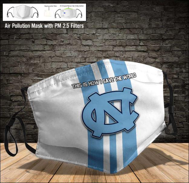 North Carolina Tar Heels face mask