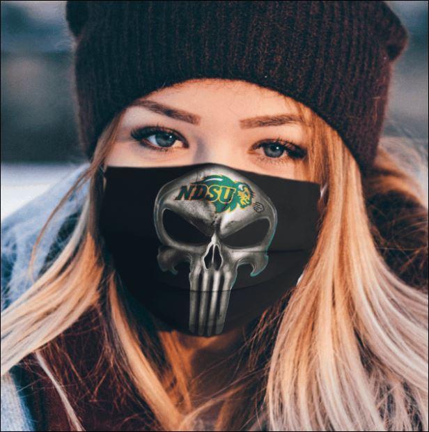 North Dakota State Bison The Punisher face mask