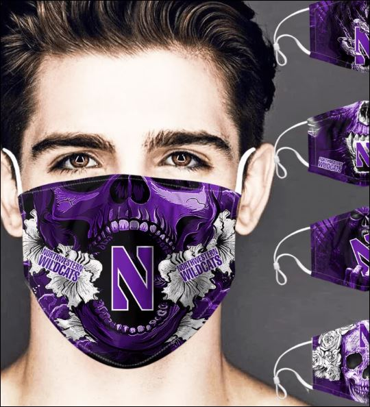 Northwestern Wildcats skull face mask