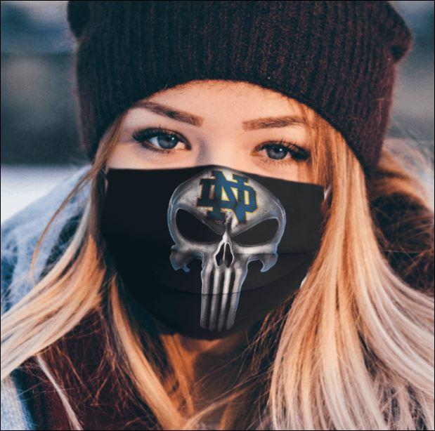 Notre Dame Fighting Irish The Punisher face mask