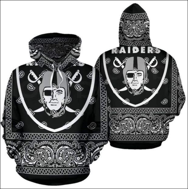 Oakland Raiders 3D hoodie