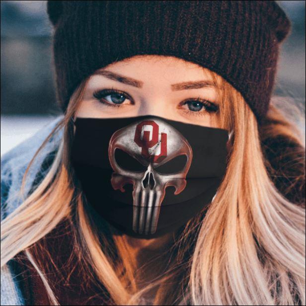 Oklahoma Sooners The Punisher face mask
