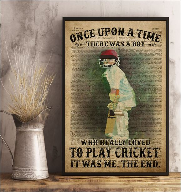 Once upon a time there was a boy who really love to play cricket it was me poster 3