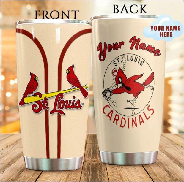 Personalized St Louis Cardinals tumbler
