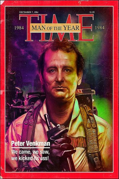 Peter Venkman time man of the year poster