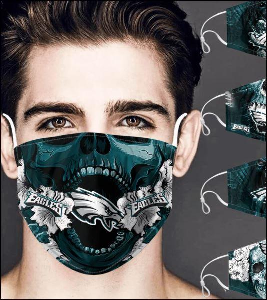 Philadelphia Eagles skull face mask