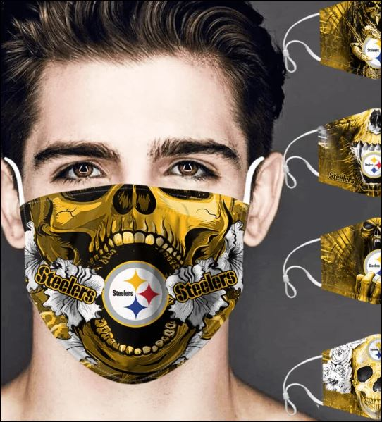Pittsburgh Steelers skull face mask