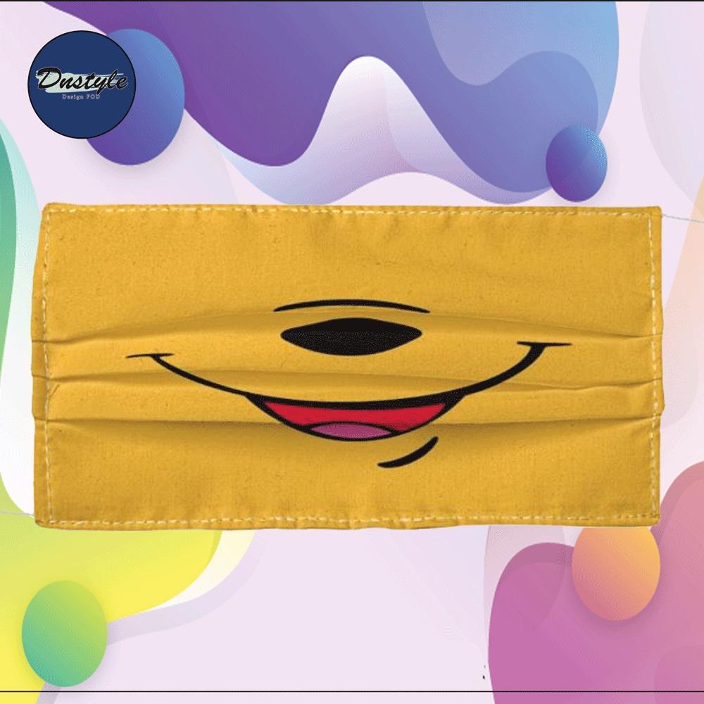 Pooh cloth face mask