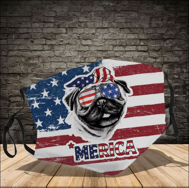 Pug America face mask