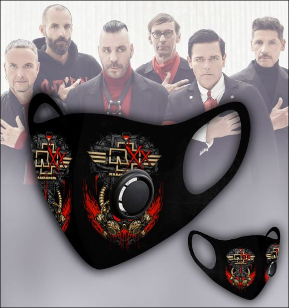 Rammstein filter activated carbon face mask 1